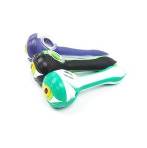 silicone spoon with eye on head part glass pipe for dry smoking High Quality with pure handmake