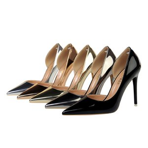 2020 Wedding Shoes Feminino strass Cristal Rosa Nude saltos agulha Moda Pointed Toe Heels Red altos sapatas nupciais