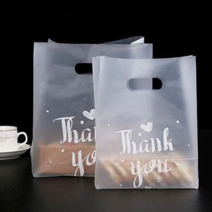 500pcs Thank You Bread Bag Plastic Candy Cookie Gift Bag Wedding Party Favor Transparent Takeaway Food Wrapping Shopping Bags