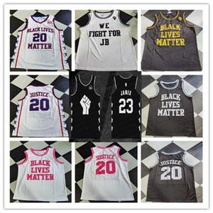 Lebron 23 James Black Lives Note Nous nous battrons pour JB Basketball Maillots personnalisés N'importe quel nom Nom Numéro 100% Shirt cousu Taille pas cher S-4XL