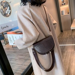 Crocodile Vintage Leather Crossbody Bags For Women 2020 New Small Purses And Handbags Ladies Shoulder Messenger Bag N5