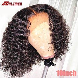 Kıvırcık Bob Peruk 13x6 Dantel Ön İnsan Saç Peruk ile Doğal Satine Tutkalsız Mızraplı Brezilyalı Remy Kısa Bob Dantel Peruk