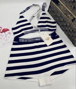 Yeni Seksi Yüksek Moda Mayo Yaz İki adet Plaj Moda Kız Bikini Backless Çiçek Mayolar Beachwear 20071601D yazdır Suits