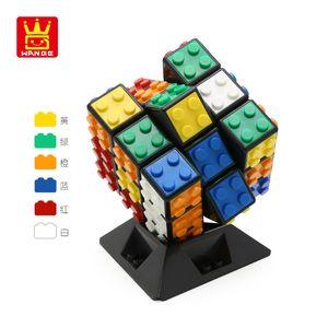 Rubik's Cube Third Order Magic Cube Wange الإبداعية مكعب اللعب الهدايا المبتدئين السلس يشعر بالفصل souptoys للجنسين