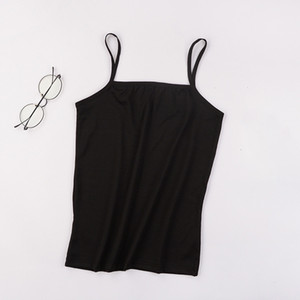 Llyge New Sexy Ultra Thin Womens Camis Tops Spaghetti Stap Solid Soft Vest Female 2020 Summer Casual Breathable Lady Tanks