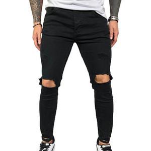 VICABO мужские джинсы Мода лето сексуальный Hole карандаш брюки джинсы для мужчин Черный Синий мужской одежды Ropa де Hombre 2020 Streetwear #W