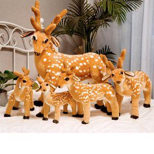 Cute simulation sika deer plush toy cartoon large realistic animal plush doll children doll girl creative birthday gift home decoration