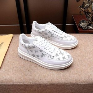 2020k luxury design mens fashion leather printed sports shoes all-match breathable mens casual shoes mens banquet shoes Size: 38-45