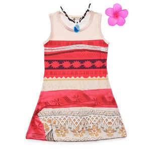 VOGUEON 여자 여름 드레스 민소매 크루 넥 비치 T 셔츠 드레스 키즈 코스프레 의상 소녀 파티 나이트 가운