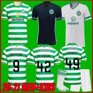 new 2021 Celtic Soccer Jerseys EDOUARD 2020 2021 BROWN FORREST CHRISTIE GRIFFITHS Celtic FC MCGREGOR Football Shirt men+kids