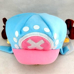 VjjUj Japanese anime pirate surrounding two years later Qiao Ba COSPALY blue Japanese anime pirate onlookers w two-year winter warm plush ha