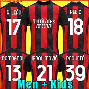 IBRAHIMOVIC AC milan 20 21 2021 كرة القدم جيرسي 2020 PIATEK قمصان كرة القدم PAQUETA THEO SUSO REBIC
