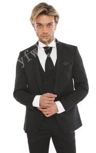 Custom-made Shawl Lapel Groomsmen One Button Groom Tuxedos Men Suits Wedding Prom Dinner Best Man Blazer(Jacket+Pants+Tie+Vest) W237