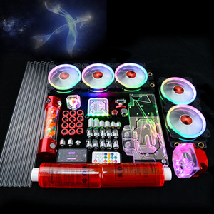 PC Case Water Cooling Kit 360mm+120MM Fan Heatsink Integrated CPU cooler Fan Radiator Pump + CPU Block + Fan Cooling Building