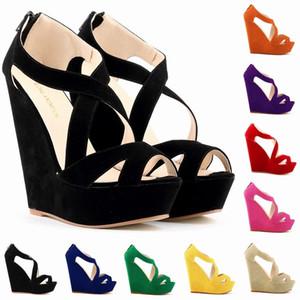 Summer Green White Beach Клин сандалии женщин лодыжки ремень платформы Гладиатор Обувь Женщины Chaussure высоких каблуках сандалии Mujer 2020