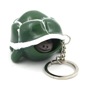 New Random Color Cute Tortoise Telescopic Head Keychain Cartoon Turtle Key Ring Anti Stress Squeeze Toys Funny Vent Toy Gift