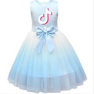 Tik Tok enfant en bas âge INS filles Robe sans manches TikTok plissé Sweat-shirt Princesse Dress Up pour 2-8 T