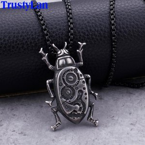Hip Hop Rocker Gothic Insect Necklaces & Pendants For Men Cool 316L Stainless Steel Link Chain Mens Biker Jewelry Accessories