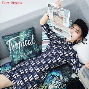 Chinese Mini vestido Side Dividir Cheongsam Modern 2020 Summer Style Blue Print Qipao Sexy Exotic Vestuário roupas tamanho XXL