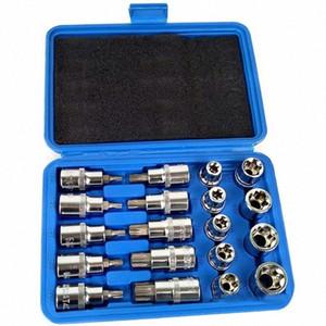 19pcs 1 2in Socket Set Drive Star Socket Bit Set E10 - E24 Torx T20 - T70 Pressure Batch Repair Tools iC1Z#