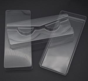 3шт / набор Прозрачные пластиковые Ресницы Упаковка Box Поддельные Ресницы лоток для хранения крышка Единичный случай с 2 прозрачной крышкой 1 Очистить лоток