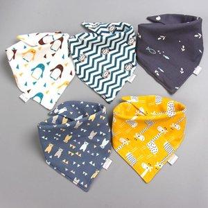 Аксессуары для волос Детские нагрудники слюни хлопчатобумажные 5 штук / лот шарф пурп ткань бандана рожденный мальчик младенческая девушка малыш