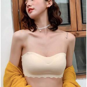 Удобный беспроводной без бретелек бюстгальтеры для женщин Bralette Бесшовная Push Up Bra Lingerie Sexy Backless Невидимый Брас Мода Bralette
