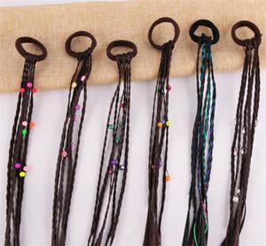 Les bandes élastiques perruque Tresses multi-couleurs enfants Elastiques cheveux corde Cute Girl Accessoires cheveux