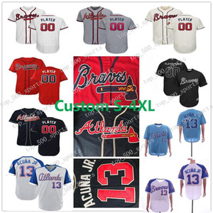 Mens Kid Lady Ronald Acuna Jr. Jersey Freddie Freeman Austin Riley Donaldson Atlanta Chipper Jones Ozzie Albies jeunes femmes Swanson