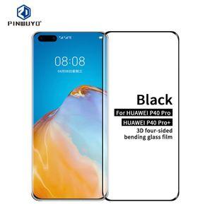 Para Huawei P40 pro / P40pro + PINWUYO 9H 3D Hot Bending vidro temperado Film