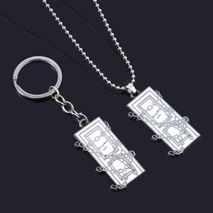 Hot Spiel Silent Hill Halsketten-Anhänger Gliederkette Platz Tür Choker für Frauen-Mann-Auto Keyring Schlüsselanhänger Schmuck