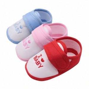 Baby Girls Shoes Newborn Babies Casual Shoes Cotton First Walkers Non-slip Breathable 0-18M 3LKq#