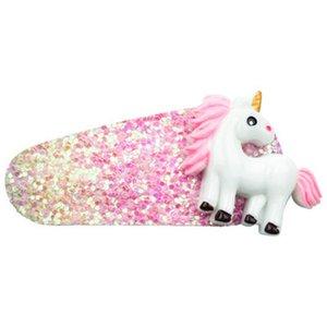 New Fashion Children Girls Glitter Unicorn Strawberry Hair Clips Kids Cute Hairpin Pink Fairy Girls Unicorn Hair Accessories New CaUyA