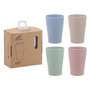 Eco Friendly Healthy Wheat Straw Biodegradable Mug, Cup for Water, Coffee, Milk, Juice, Tea (4pcs )