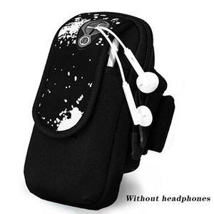 스포츠 팔 팩 폴리 휴대 전화 (6.5 인치) 화면 케이스 손 휴대 전화 가방을 들고 체육관 가방 팔 벨트를 실행