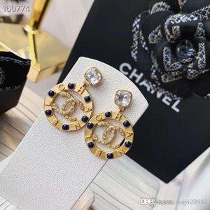 Boucles d'oreilles bague de mode américaine style chaud concepteurs vendent boucles d'oreille de diamant à la mode