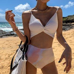 Japanese and Korean new special price sexy backless split bikini swimsuit bikini dizzy color hot spring swimming suit ladies