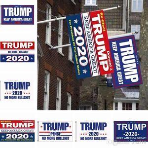 calientes 90 * 150cm Trump 2020 Bandera de impresión Mantenga Flags America gran bandera Jardín Donald Poliéster Decoración Banner T3I0350