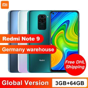 Global Versão Xiaomi redmi Nota celular 9 Moblie telefone 3GB RAM 64GB ROM MTK Helio G85 Octa Núcleo 48MP Quad câmera traseira 5020mAh