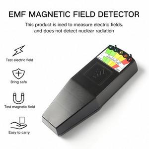 K2 Campo elettromagnetico EMF Meter Gauss Ghost Hunting FME del rivelatore portatile campo magnetico rivelatore 5 LED Gauss Meter E84a #