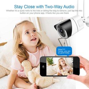 HD 5MP Wi-Fi IP-камера ONVIF 1080P Беспроводные Проводные CCTV Цилиндрическая камера Открытый Два TF Card Slot Way Audio Макс 64G ИК 20м P2P