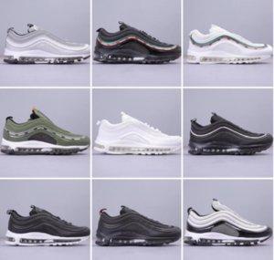 Las zapatillas para correr Senderismo Cushion 97 Negro de las zapatillas de deporte de las mujeres de los hombres de los zapatos ocasionales de correr al aire libre