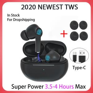 2020 MAIS NOVO TWS Blutooth Auscultadores sem fios Mini Baixo Fone de ouvido Headset Esportes Earbuds com carregamento Box Microfone PK Air 3 Pro