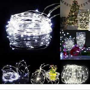 Christmas Lights 2m 20LED Button Battery Operate Fairy String Light Micro Led Copper Wire Moon Lamp Xmas Christmas Wedding