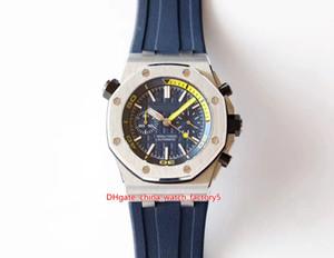 6 Estilo Melhor Qualidade JF Maker 42mm Offshore 26703 26703st.oo.a038ca.01 Cronógrafo Cal.3124 Movimento Mecânica Mens Mens Relógios