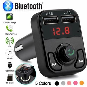 Car Bluetooth 5.0 FM Transmitter Wireless Handsfree Audio Receiver Auto MP3 Player 2.1A Dual USB Fast Charger Accessories