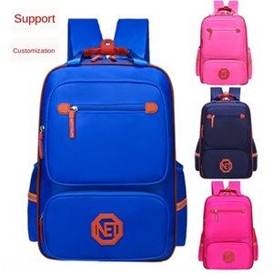 GnDrA School style schoolbag Primary School students burden reduction wear-resistant waterproof breathable training tutorial class Schoolbag