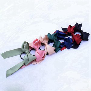 Fashion Ponytail Scarf Elastic Hair Rope for Women Hair Bow Ties Scrunchies Hair Bands Flower Print Ribbon Hairbands Party Favor RRA3087