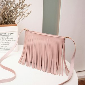 Women Tassel Messenger Bags Vintage Designer Handbags Female Casual Shoulder Bag Small Square Crossbody Bag Purse T10