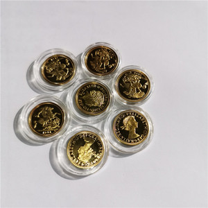 1914 1963 2015 BRITISH FULL SOVEREIGN 22ct GOLD COIN KING GEORGE V fünfte Goldmünze, 10pcs / lot geben Verschiffen frei BRITISCHE 24k Gold überzogenes COIN 22 * 1.8mm